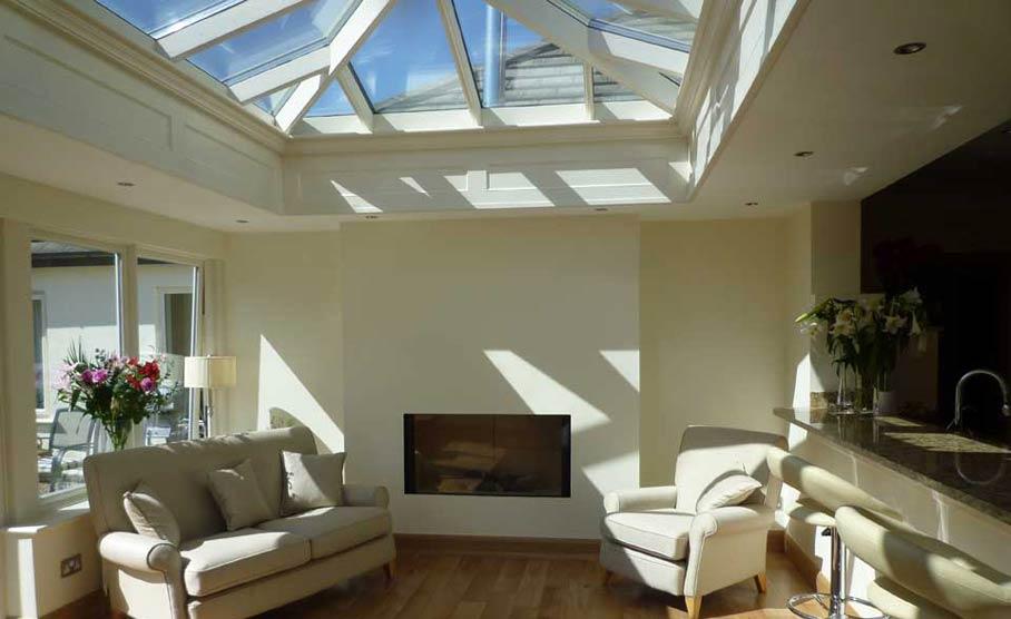 Hardwood orangery designs carefully planned for your home for Orangery lighting ideas
